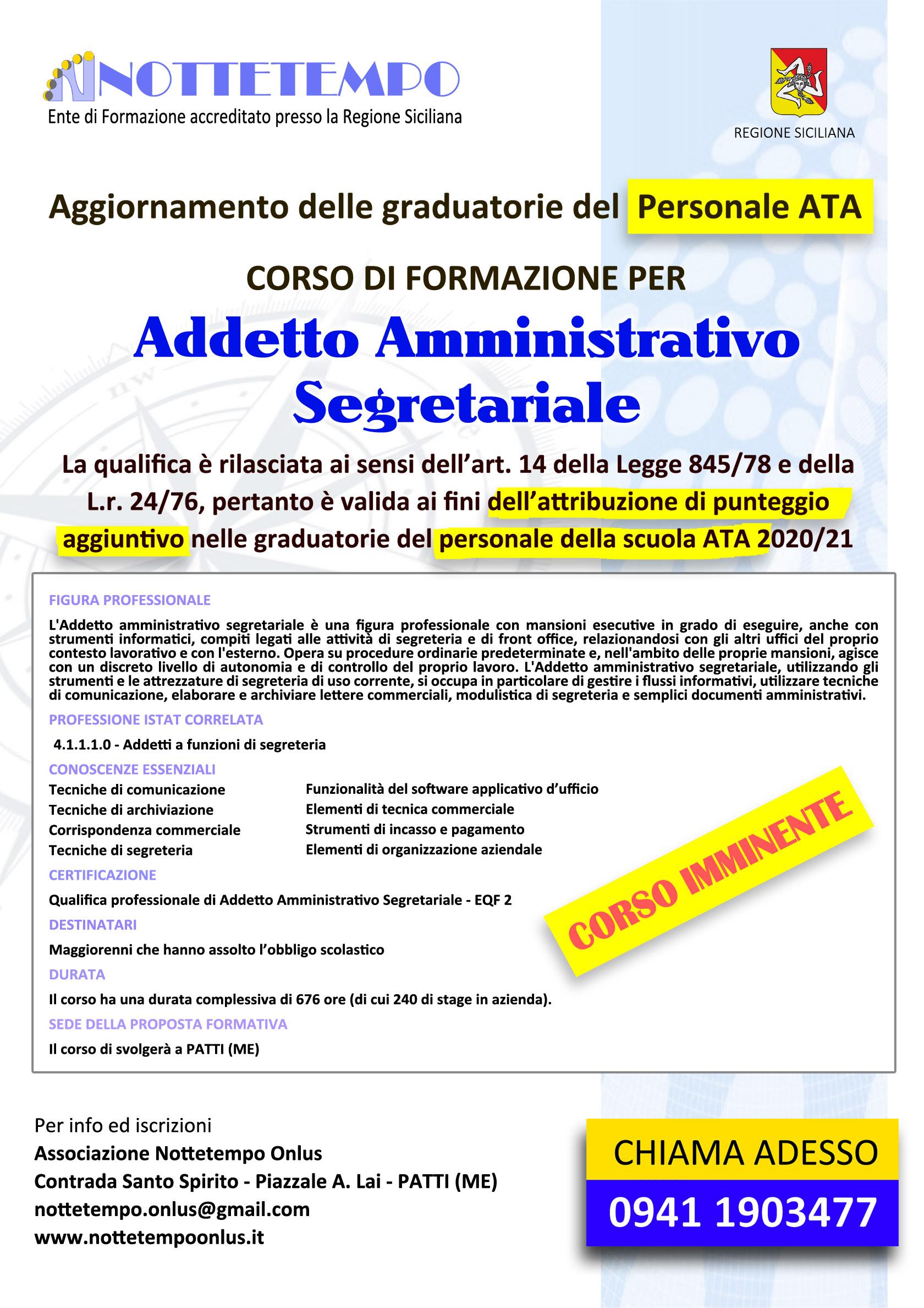 Corso per Addetto Amministrativo Segretariale